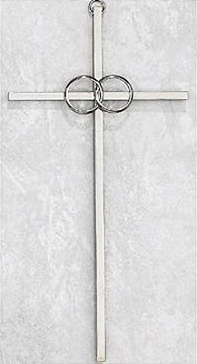8 inch silver Cana Catholic Wedding Cross